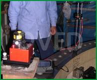 Strumentazione laser per misura planarità piani e flange