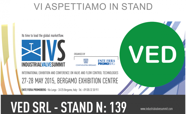 Industrial Valve Summit (IVS) at Bergamo on 27 and 28 May