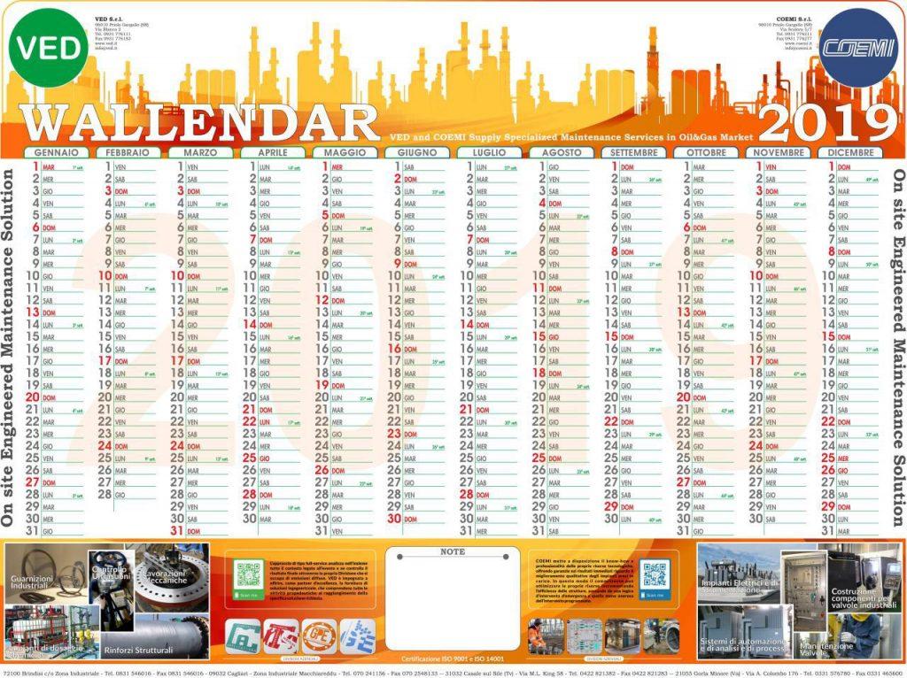 Calendario Appunti 2019.Wallendar 2019 Il Calendario Da Parete Di Quest Anno E Cosi